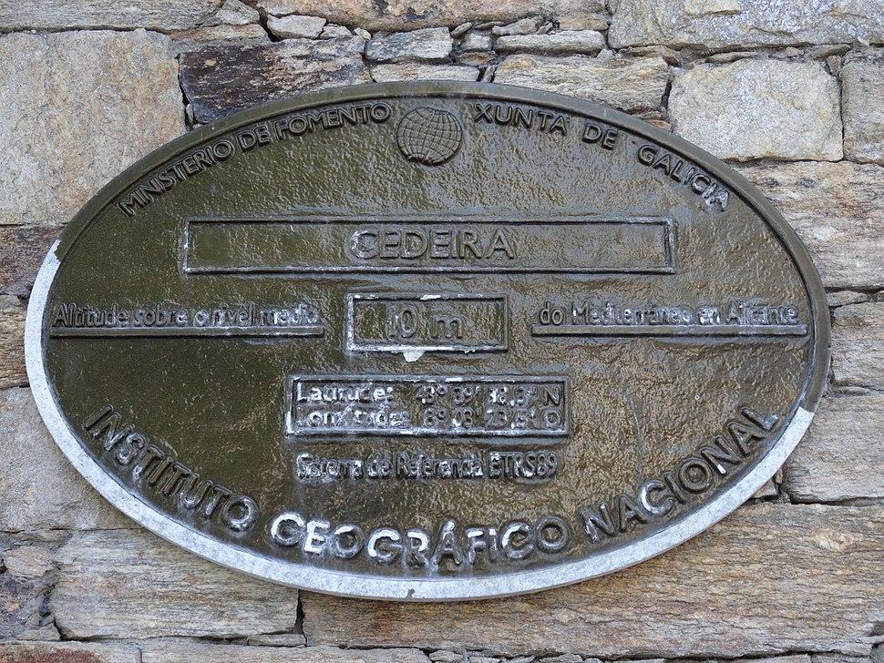 Placa altimétrica de Cedeira, Coruña
