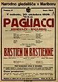 Plakat za predstavi Pagliacci in Bastien in Bastienne v Narodnem gledališču v Mariboru 30. oktobra 1926.jpg