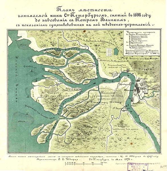 Карта местности занятой в