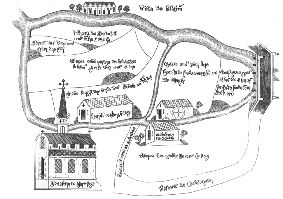 Plan of Chertsey Abbey (Surrey Archaeological Collections)