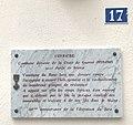 Plaque Croix de Guerre 39-45 sur la mairie de Coyrière.jpg