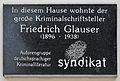Plaque Friedrich Glauser, Schelleingasse 23.jpg