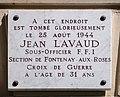 Plaque Jean Lavaud, 55 rue d'Assas, Paris 6e.jpg