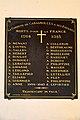 Plaque commémorative dans l'église Saint-Pierre de Cahagnolles.jpg
