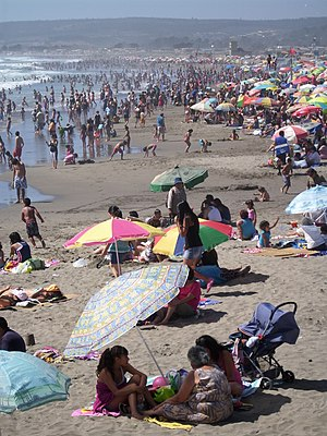 Cartagena, Chile - Playa Grande of Cartagena.