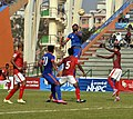 Players of India and Bangladesh in action during a Football Match, at the 12th South Asian Games-2016, in Guwahati on February 13, 2016 (1).jpg