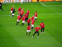 Players of Manchester United FC Prematch Warmup.jpg