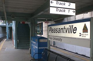 Pleasantville station railway station in New York