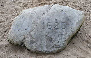 Plymouth Rock Historical important rock in Plymouth, Massachusetts, USA