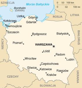 Мапа Польшчы