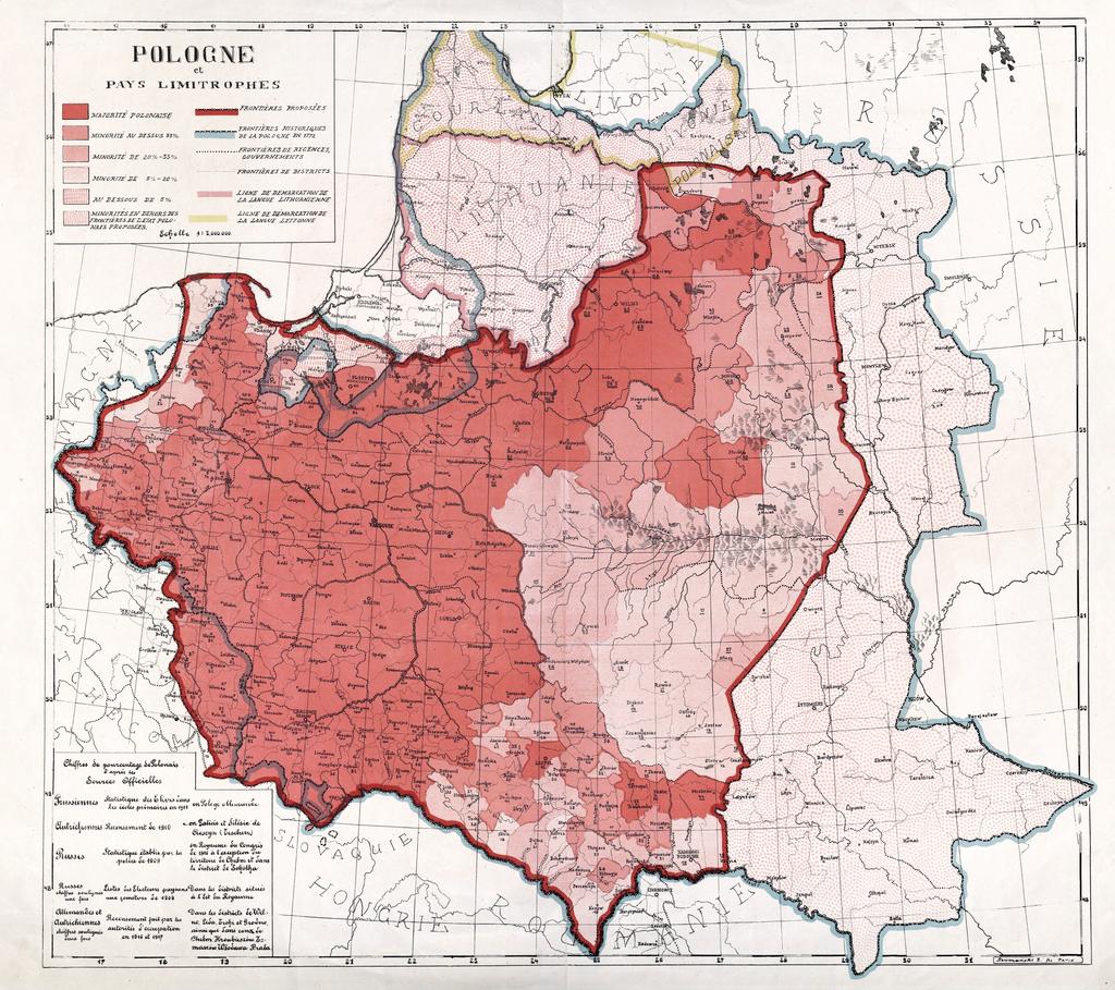 Polish territorial demands on Paris Peace Conference 1919
