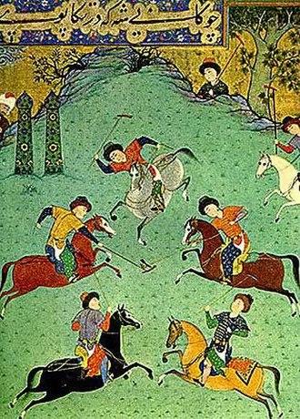 Chovgan - Image: Polo game