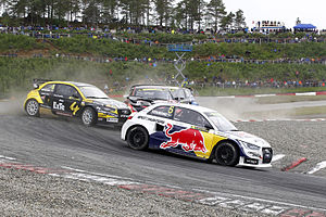 2014 World RX of Norway - Pontus Tidemand, Robin Larsson, Emil Öhman and Frode Holte