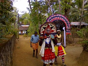 Poothan and Thira - Poothan and Thira for the Machattu Mamangam festival.