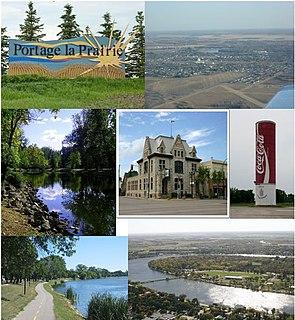 Portage la Prairie City in Manitoba, Canada