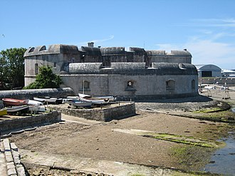 Portland Castle - The keep seen from the harbour
