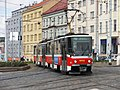 Praha, Libeň, křižovatka Sokolovská-Zenklova, Tatra T6A5 č. 8652+?.jpg