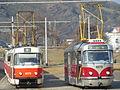 Praha, Podbaba, tramvajová smyčka, T3M a T3R.jpg