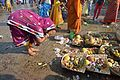 Pray with Offerings - Chhath Puja Ceremony - Baja Kadamtala Ghat - Kolkata 2013-11-09 4317.JPG