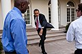 President Barack Obama practices his baseball pitching.jpg