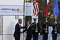 President Benigno S. Aquino III is welcomed by United States President Barack Obama at the Sunnylands Garden and Center in Rancho Mirage (01).jpg