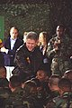 President Clinton, Hillary Rodham Clinton and Chelsea Clinton greet troops at Tuzla Air Force Base in Bosnia - Flickr - The Central Intelligence Agency (3).jpg