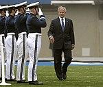 President George W. Bush arrives at the U.S. Air Force Academy's Falcon Stadium.jpg