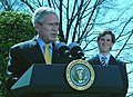 President George W. Bush encourages all Americans to participate in the National President's Challenge.jpg