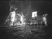 President Nixon telephones the Apollo 11 crew on the Moon
