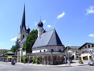 Prien am Chiemsee - Church at the market square