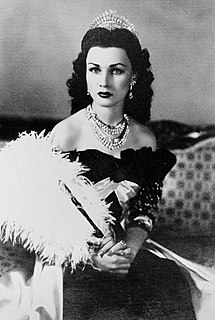 Fawzia Fuad of Egypt Egyptian royal