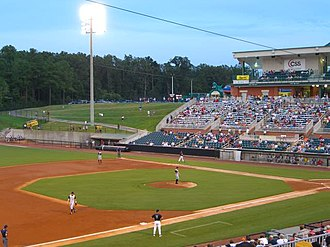 Jackson Generals - A baseball game at Pringles Park in August 2005.