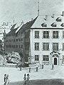 Prinzenbau und Alte Kanzlei, Außenfassaden mit dem Wandbrunnen um 1800 (PBS42).jpg