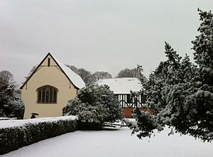 Prittlewell Priory - Image: Prittlewell Priory in snow