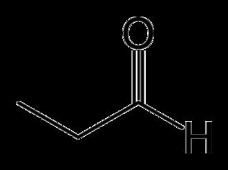 Propionaldehyde - Image: Propanal skeletal