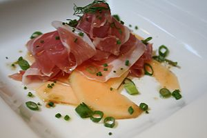 Prosciutto di Parma e melone Parma ham and can...