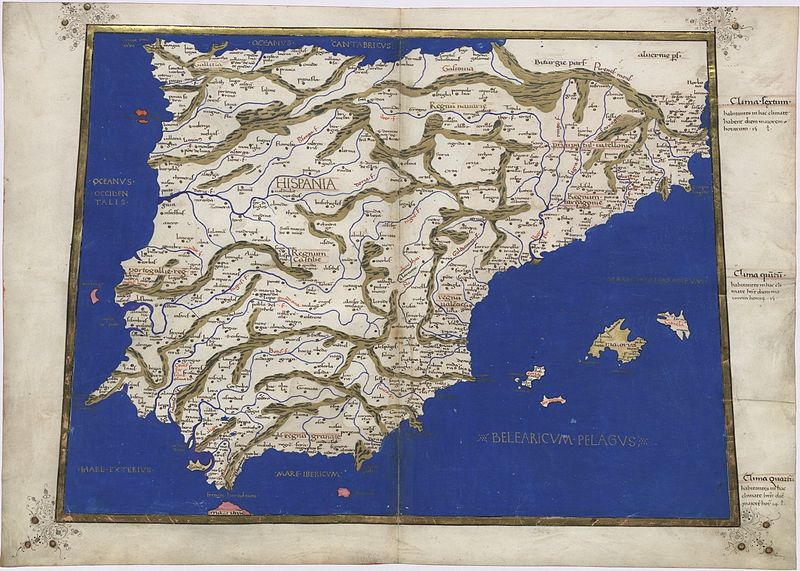 File:Ptolemy Cosmographia 1467 -Spain and Portugal.jpg