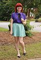 Purple Blouse, Sequined Seafoam Mini Skirt, Cateye Glasses and Two-toned Flats (19251945006).jpg