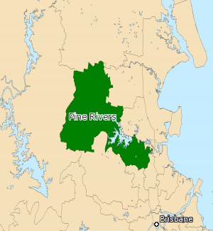 Electoral district of Pine Rivers - Electoral map of Pine Rivers 2008