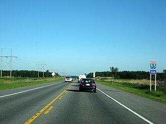 Quebec Autoroute 55 - Image: Quebec Autoroute 55 Southbound 2