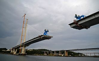 Queensferry Crossing - Queensferry Crossing under construction in 2016