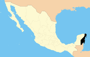 English: State of Quintana Roo in Mexico Españ...