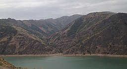 Qurama mountains near Achangaran reservoir.jpg