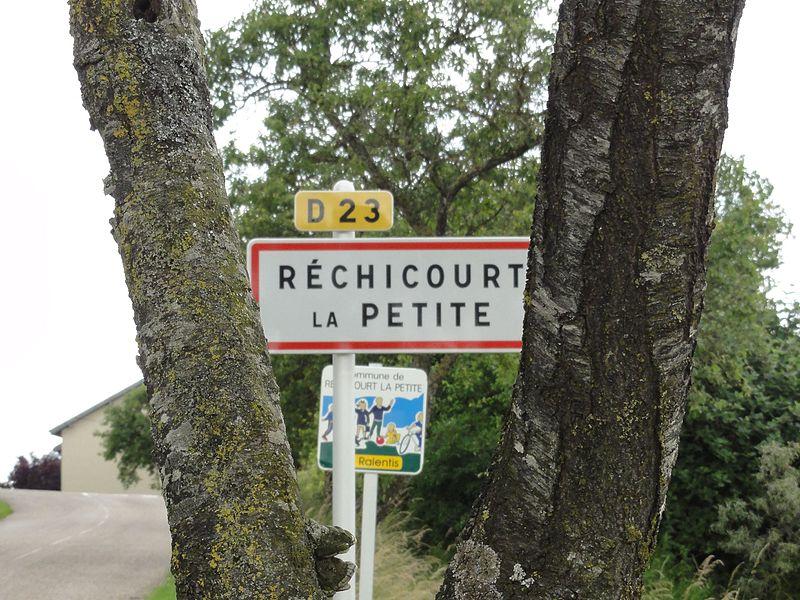 Réchicourt-la-Petite (M-et-M) city limit sign