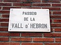 Ròtul Passeig de la Vall d'Hebron.JPG