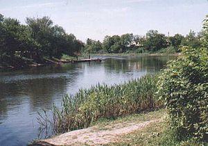Річка вовча в районі міста павлоград