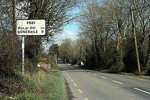 R581 road (Ireland) - R581 leaving the N20