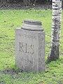 RLS Memorial by Ian Hamilton Finlay, Edinburgh.JPG