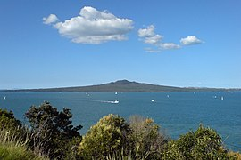 Rangitoto island as seen from North Head.