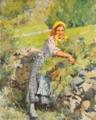 Rapariga do campo com braçada de verdura (1921) - Alves Cardoso.png